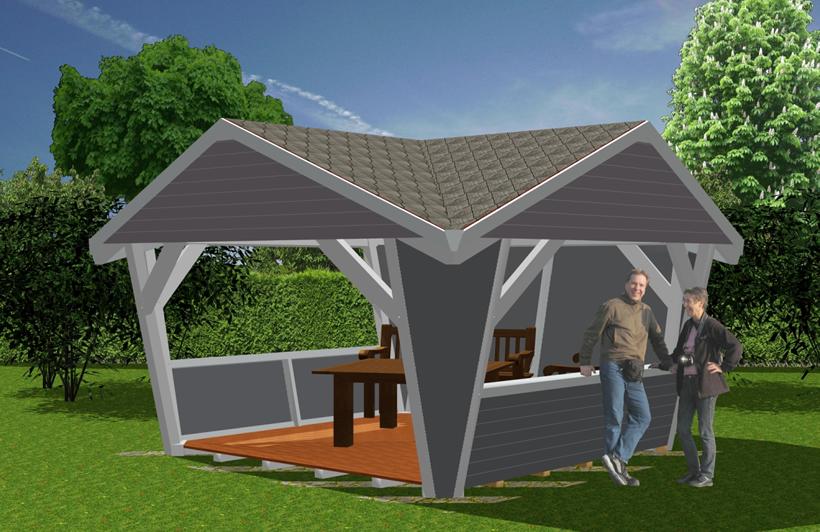 pavillion aus holz garten pavillions bauen novum carport. Black Bedroom Furniture Sets. Home Design Ideas