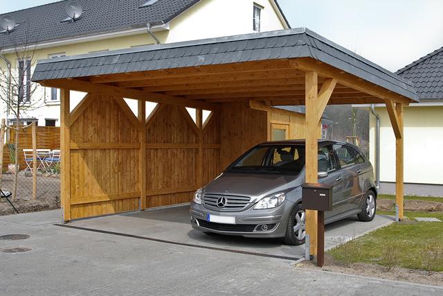 Fachwerk, Exklusiv, Holz & Leimholz Carports Angebot - Novum Carport