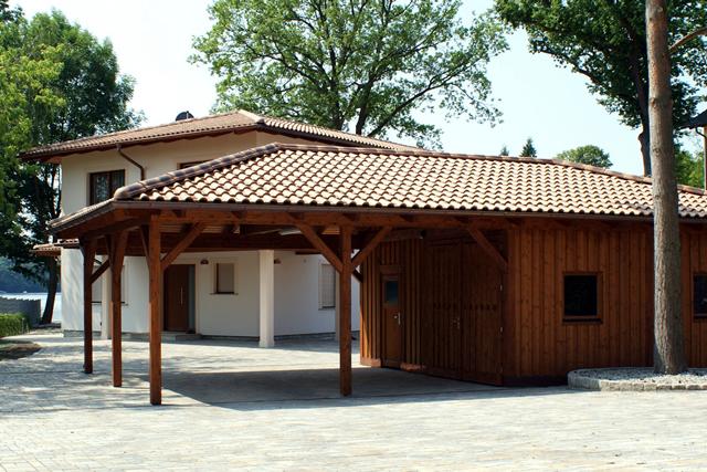 Carport Holz Mit Geräteraum ~ Fachwerk, Exklusiv, Holz & Leimholz Carports Angebot  Novum Carport